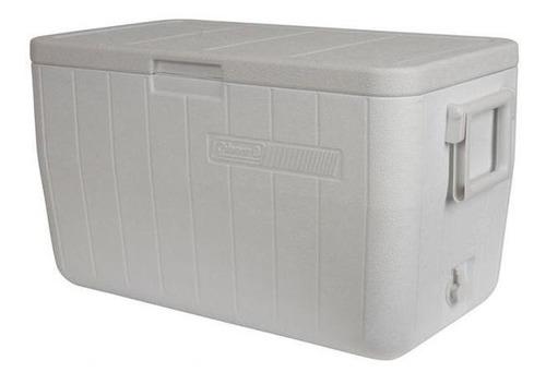 caixa térmica 48qt 45,4 litros - branca - coleman