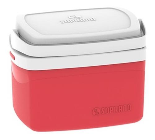 caixa térmica 5 litros cooler azul rosa preta vermelha verde