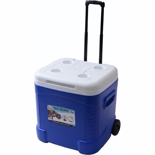 caixa térmica 57l 90 latas alça e roda ice cube 60 qt igloo