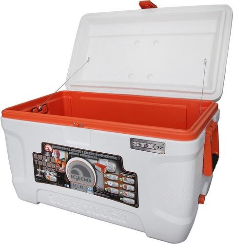 caixa térmica 68 litros super tough stx 72 qt - igloo