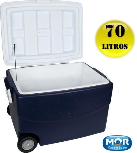 caixa térmica 70 litros c/ rodas mor cooler