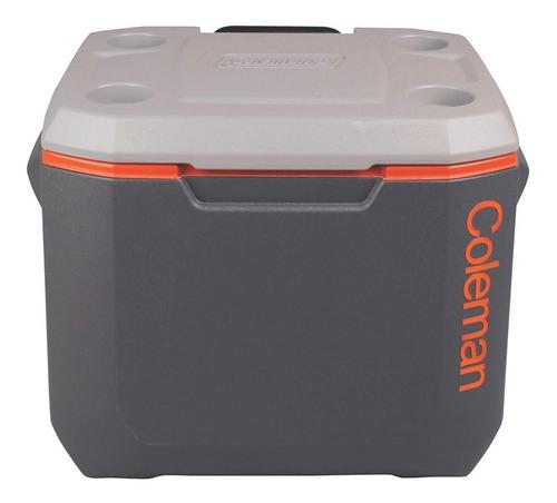 caixa térmica c/ rodas coleman 50qt xtreme 47,3 litros cinza