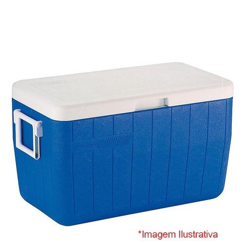 caixa térmica coleman 26.5 litros azul ref. 8728