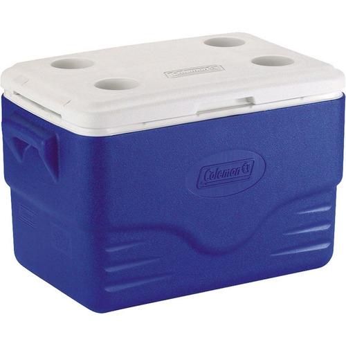 caixa térmica coleman 36 qt com tampa removível 34 l azul