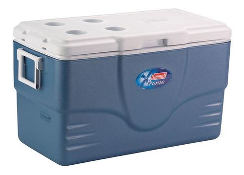 caixa térmica coleman extreme 70qt 66 litros - azul