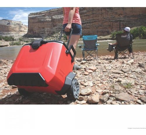 caixa térmica coleman rugged c/ rodas grandes 52 litros