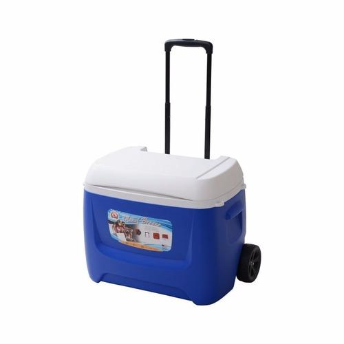 caixa térmica com rodas island breeze 60 qt roller - igloo
