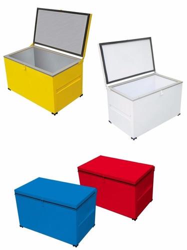 caixa térmica cooler 130 lit gabinete interno chapa zincada