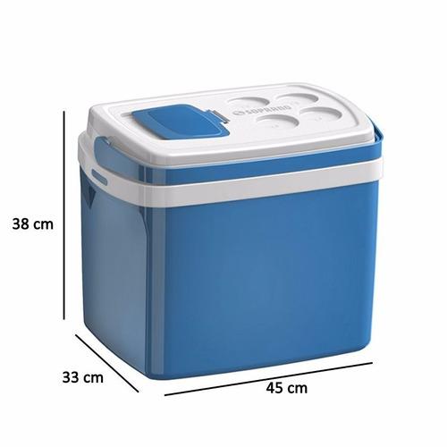 caixa térmica cooler com alça soprano 32 litros vermelha