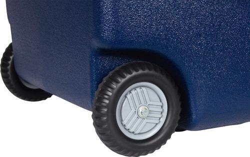 caixa térmica cooler glacial azul 70l com alça e rodas mor