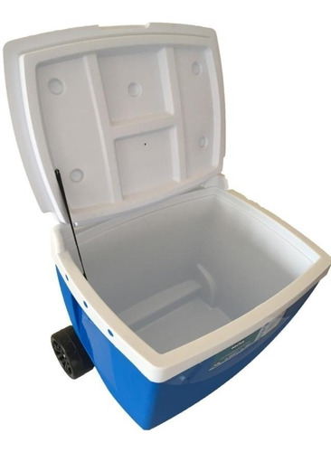 caixa térmica cooler mor 42 litros com rodas e alça
