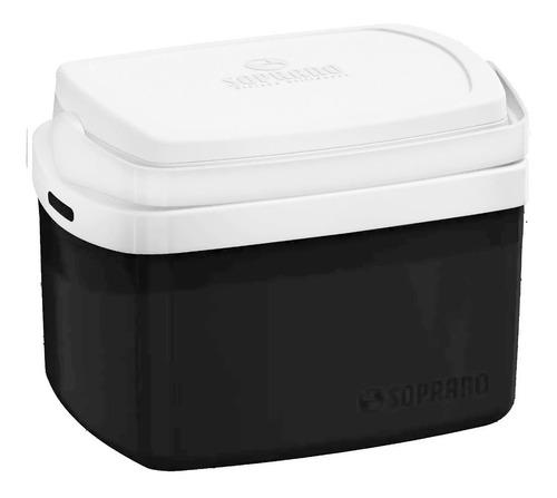 caixa térmica cooler soprano 5 litros preta super promoção!