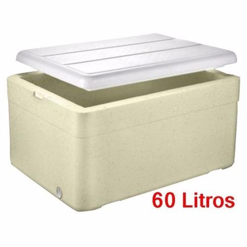 caixa térmica de isopor 60 litros cerveja refrigerante agua