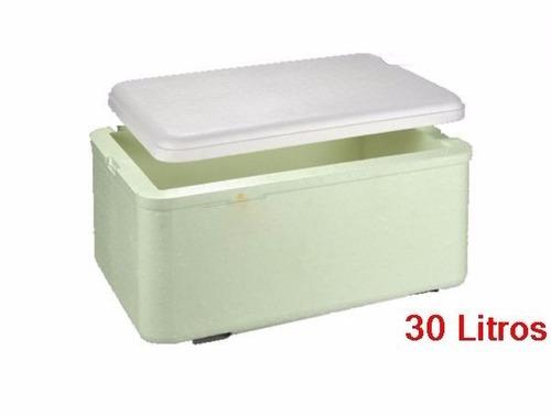 caixa térmica de isopor com dreno 30 litros