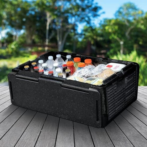 caixa termica dobravel 45 latas ice cooler quente e frio 24l
