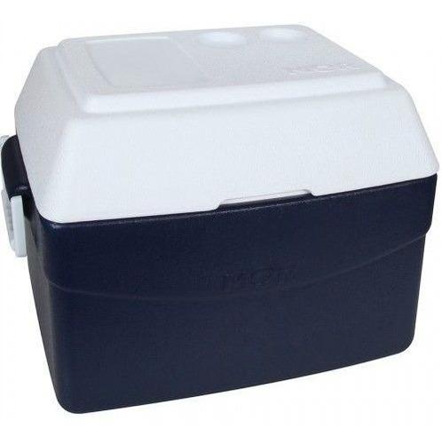 caixa térmica grande 55 litros mor glacial azul