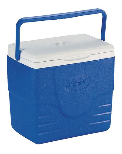 caixa térmica grande coleman com tampa 15.1 litros azul