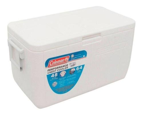 caixa térmica grande cooler coleman 48 qt 45,4 l branco