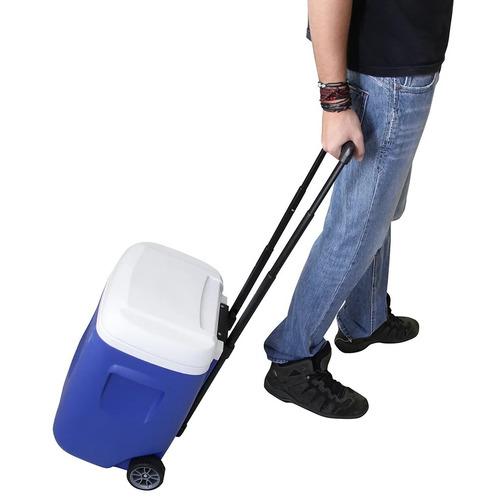 caixa térmica igloo 26 litros com rodas e alça telescópica i