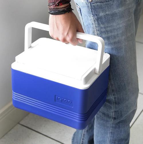 caixa térmica igloo com 4 litros e alça de mão legend 6