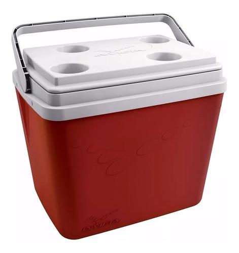 caixa térmica invicta 34 litros + garrafão térmico 3 litros