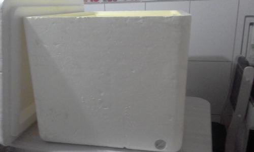 caixa térmica isopor 120 litros isoterm c/dreno frete grátis