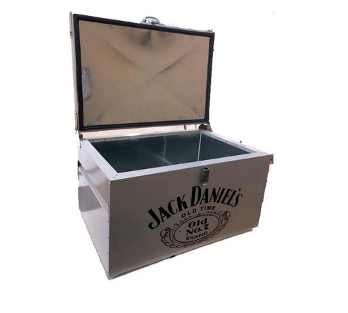 caixa térmica jack daniels 30 litros aço galvanizado