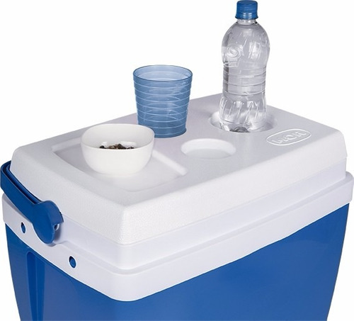 caixa térmica mor 34 litros azul com alça