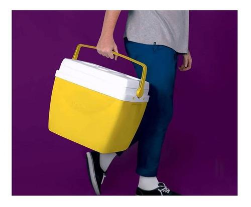 caixa térmica mor glacial 34 litros 100% virgem amarela 2510