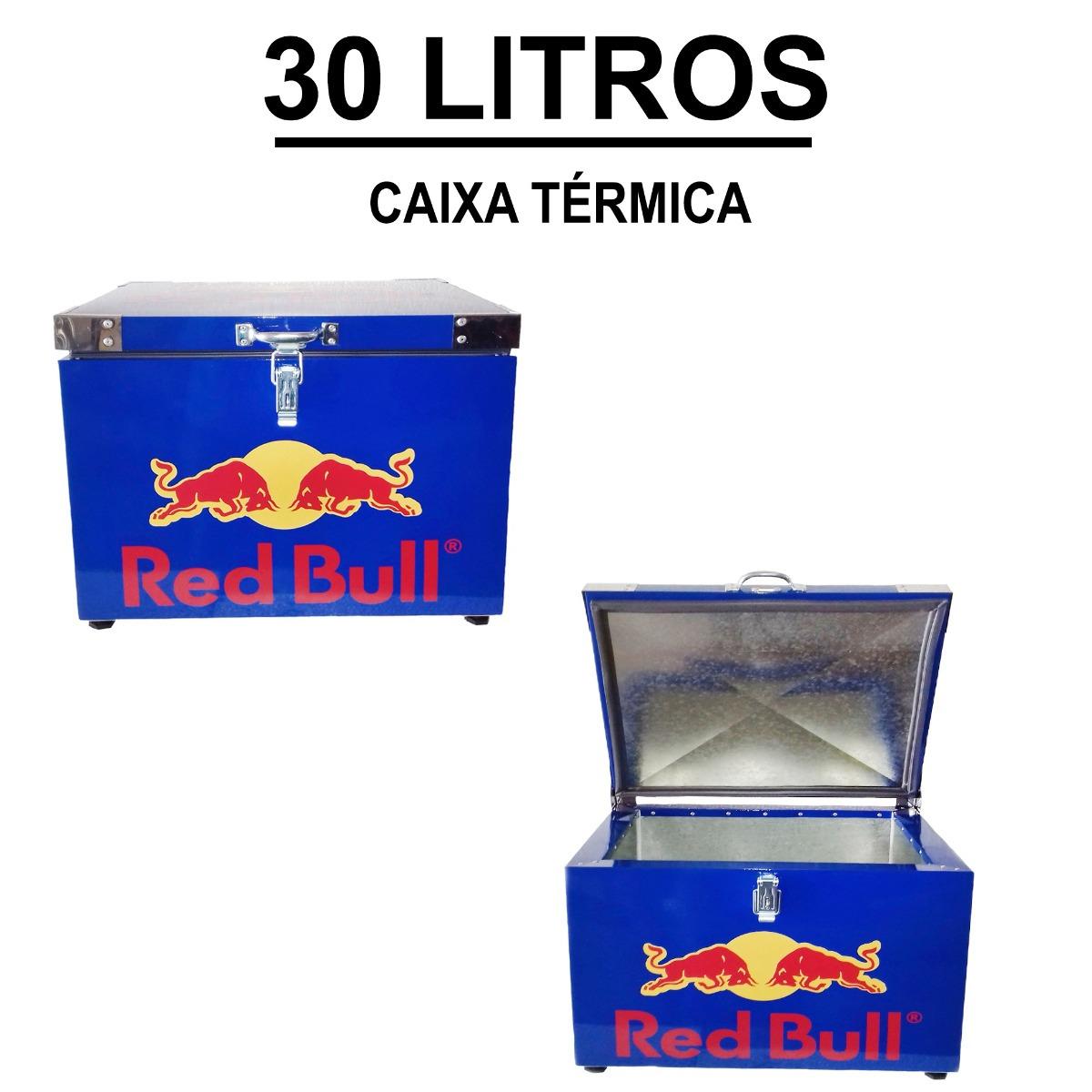 40d700e107c1a caixa térmica red bull azul 30 litros. Carregando zoom.