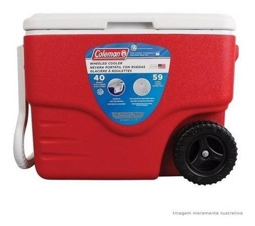 caixa termica rodinhas grande 38 litros rodas cooler coleman