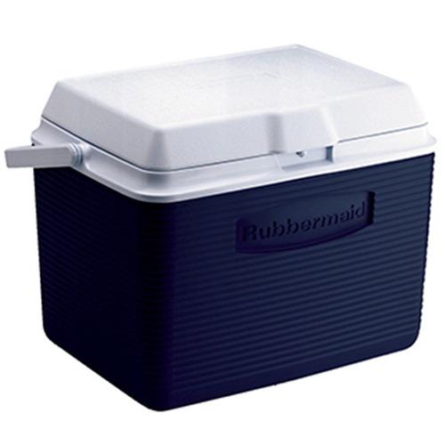 caixa térmica rubbermaid echolife 23 litros azul com alça