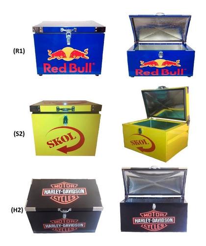 caixa térmica skol 180 litros aço galvanizado