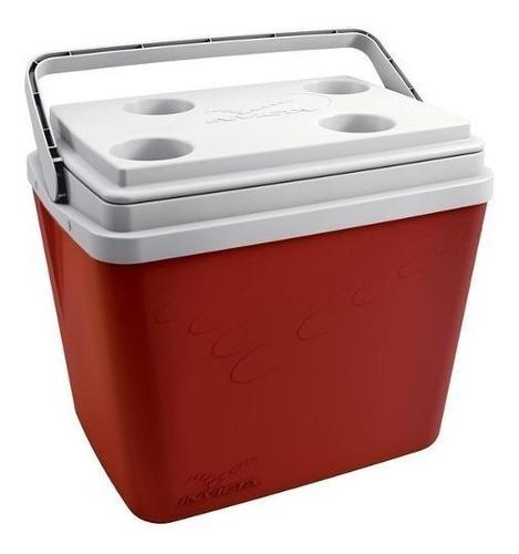 caixa termica vermelha 34 l. invicta promoção aproveite bg