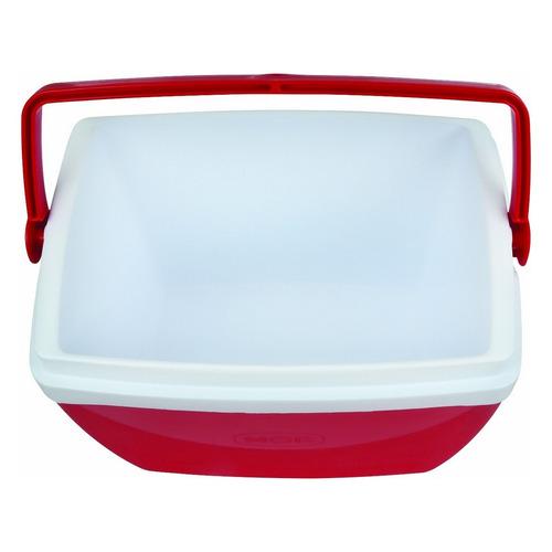 caixa térmica vermelha mor 26 litros com alça e porta copo