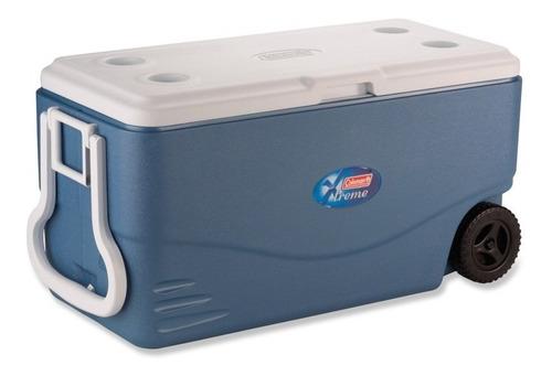 caixa térmica xtreme 100 qt com rodas 94,6 litros coleman