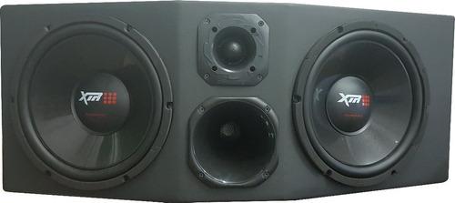 caixa trio amplificada completa 2 sub12 xtr + driver tweeter