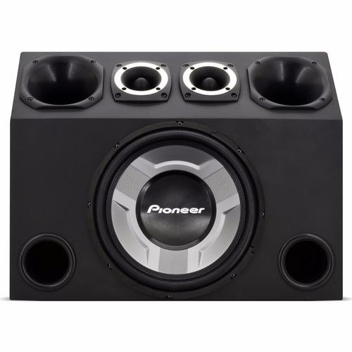 caixa trio completa 830w subwoofer pioneer + módulo taramps