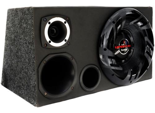 caixa trio completa bomber + forte + modulo taramps tl1500 w