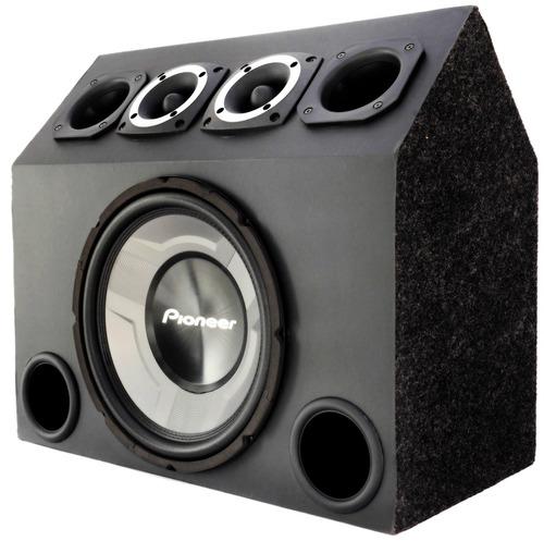 caixa trio completa sub 12 pioneer + modulo taramps tl 1500w