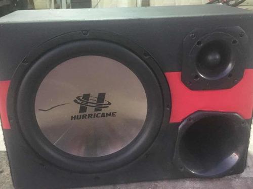 caixa trio hurricane platino 12  corneta super tweeter
