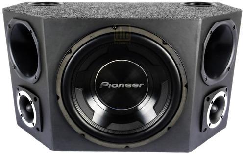 caixa trio pioneer completa som cara preta + módulo taramps