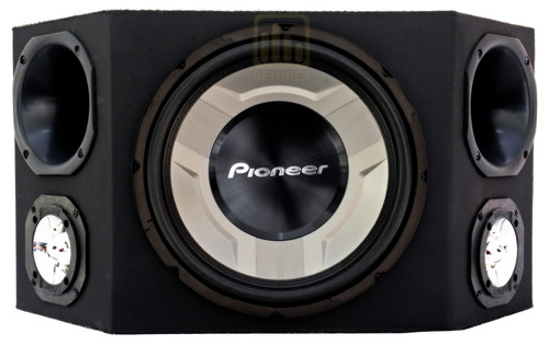 caixa trio pioneer completa som carro + módulo taramps