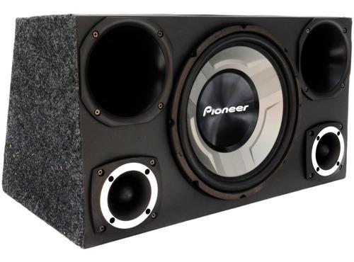 caixa trio pioneer completa sub 12 + modulo taramps tl1500w