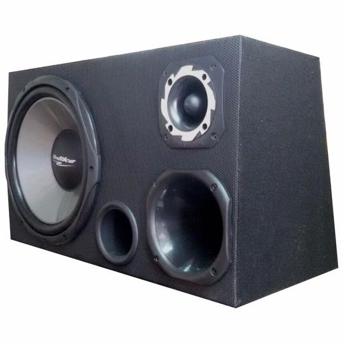 caixa trio simples unlike + radio mp3 + modulo stetsom 160.2
