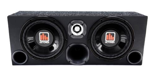 caixa trio som amplificada completa 2 sub 12 +modulo taramps
