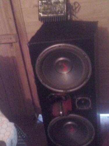 caixa trio sub 12 sub pioneer 400w + modulo