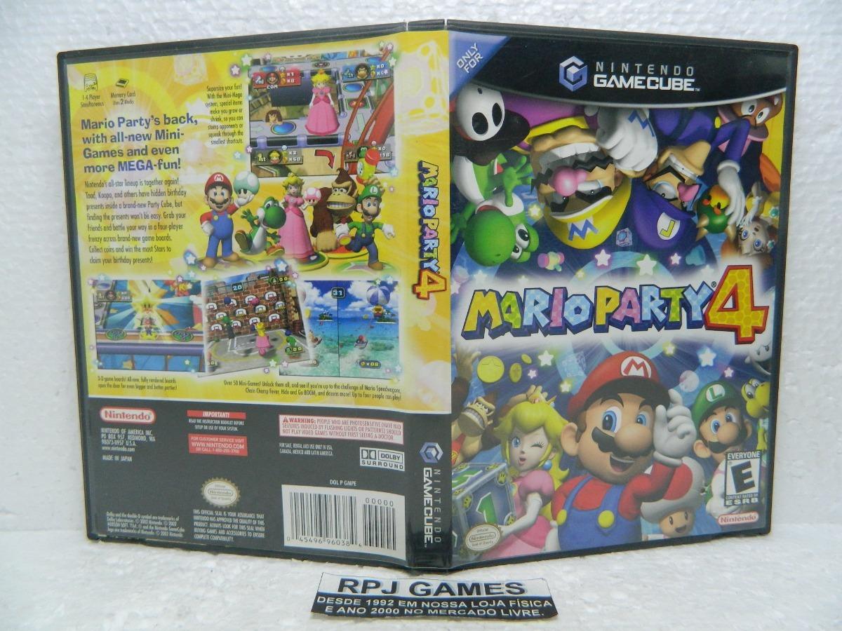 Caixa Vazia S/ Jogo C/ Manual Do Mario Party 4 Game Cube