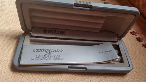 caixa/estojo de plastico caneta parker