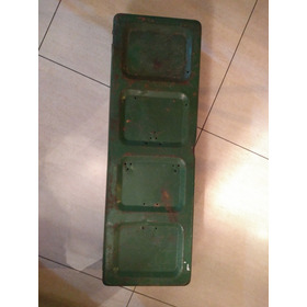 Caixa/lata De Munição Militar Grande Antiga